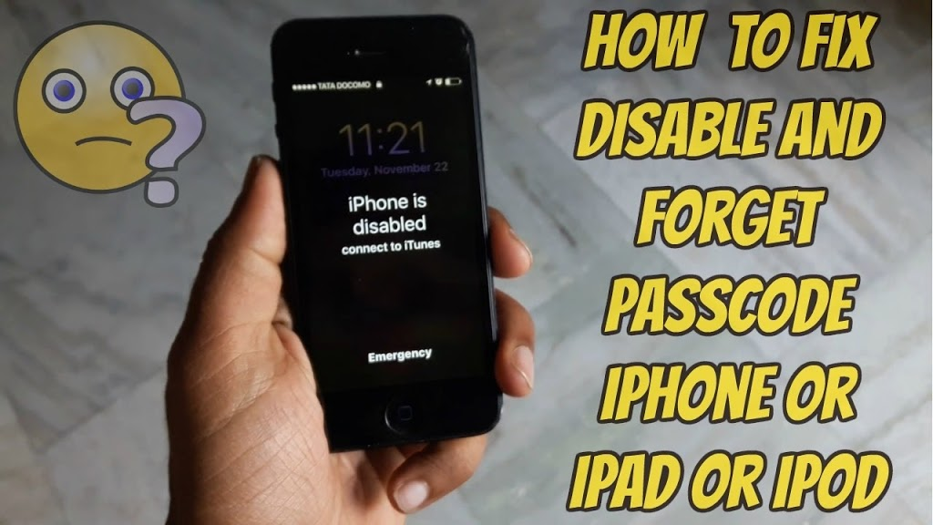 Photo of how to fix disable iphone unlock. and fix connect to itunes | how to fix disable and forget passcode iphone or ipad or ipod