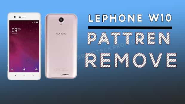 Lephone w10 pattern unlock
