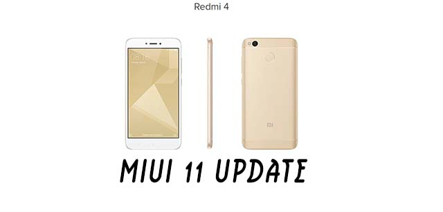 redmi 4 update miui 11