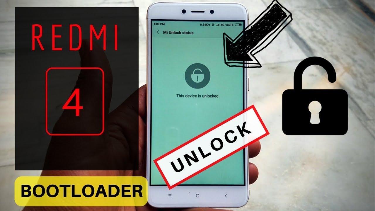 redmi 4 bootloader unlock