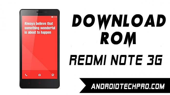 rom xiaomi redmi note 3g global