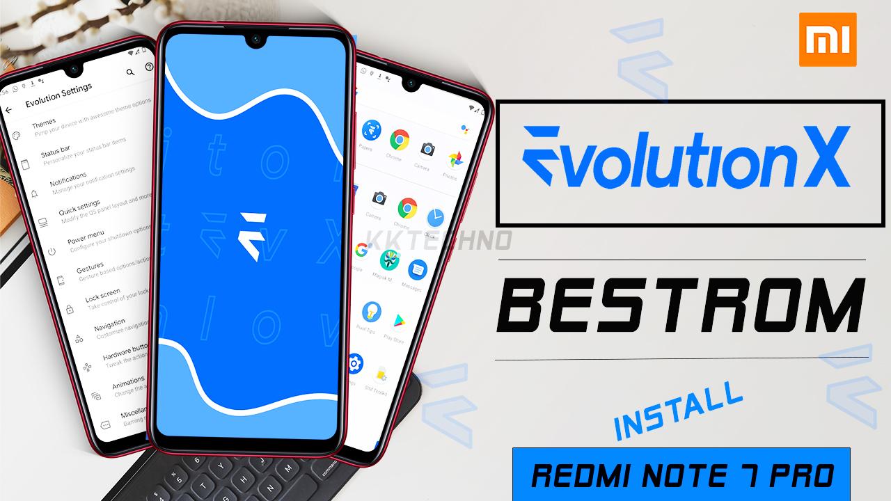 evolution x rom redmi note 7 pro