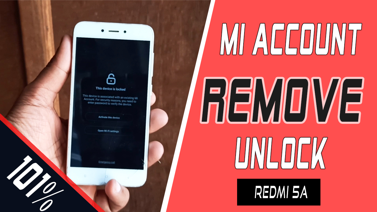 Redmi 5a mi account problem