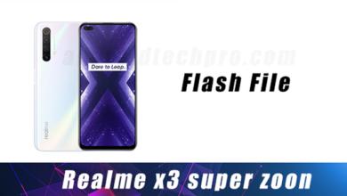 Flash file for realme X3
