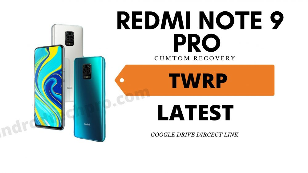 Redmi note 9 pro twrp recovery